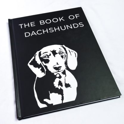 Dachshund coffee table book - white 1