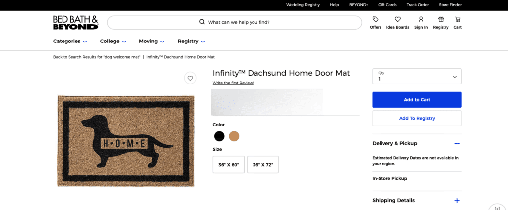 Dachshund welcome mat - Dog gifts for her