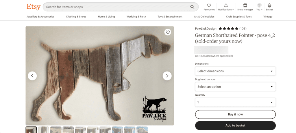 Wooden dog art - dog gifts for her