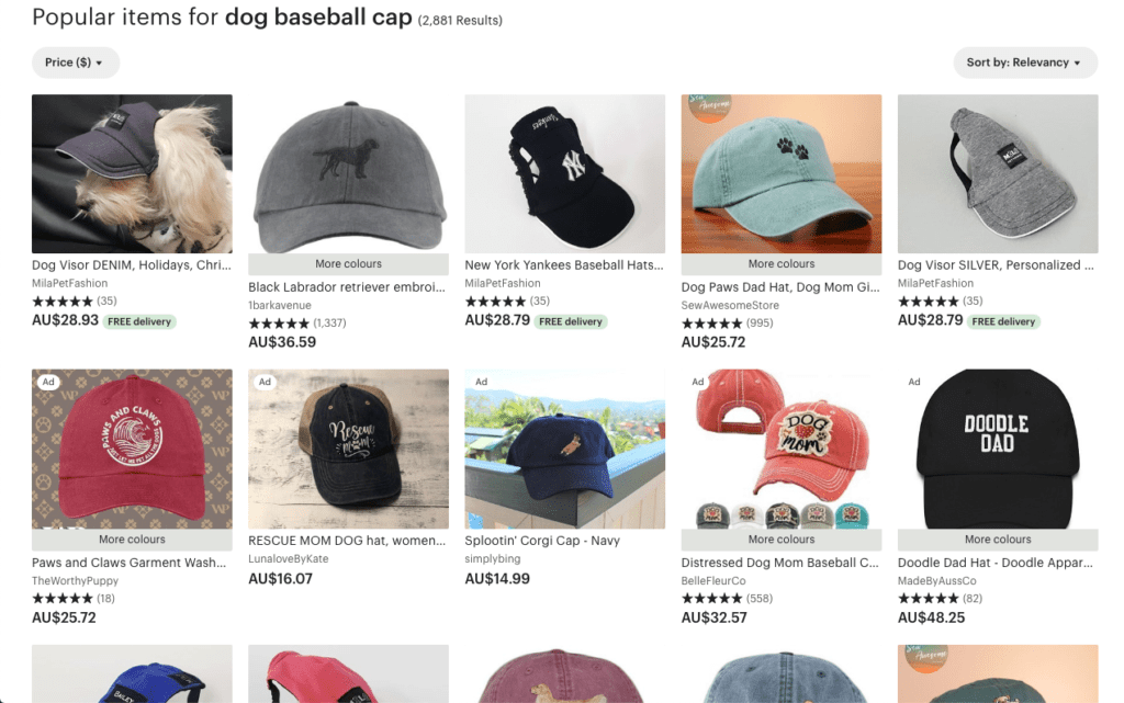 Baseball caps - dog gifts for him idea