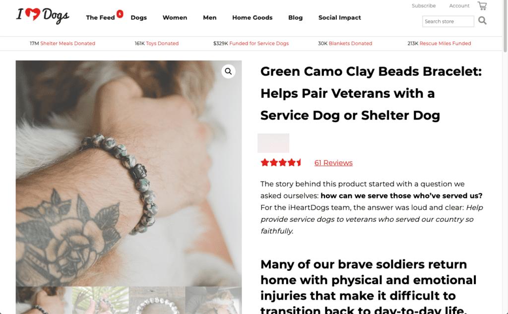 Dog gifts for him - bracelet