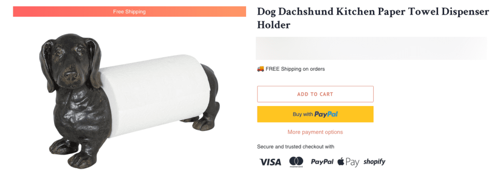 Gifts for Dachshund lovers - paper towel holder