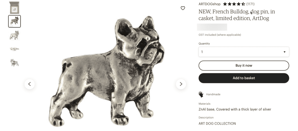 Gifts for French Bulldog Lovers - Pin
