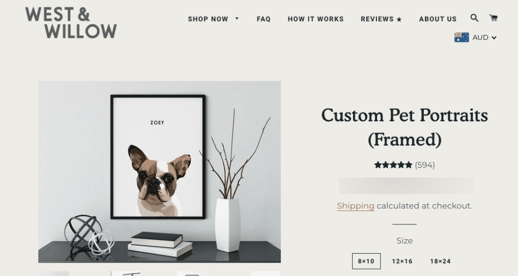 Pet Portraits as Frenchie Gift