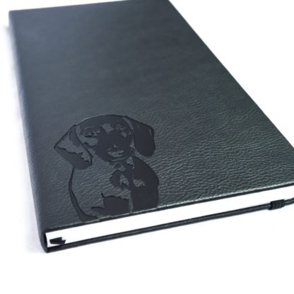 Dachshund notebook - white 3