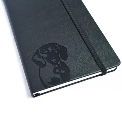 Dachshund notebook - white 4