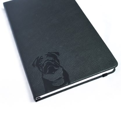 Pug Notebook - White 1