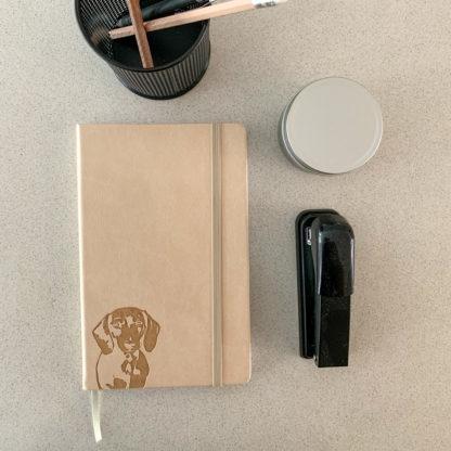 Dachshund Notebook - Beige - 7