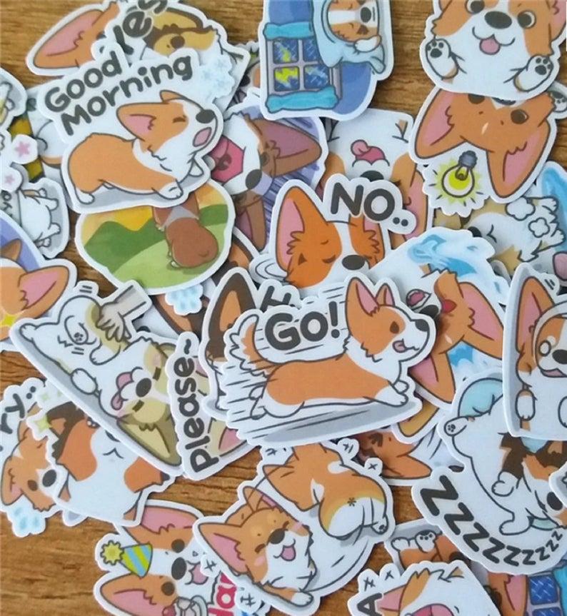 35-Pieces-Kawaii-Corgi-Stickers