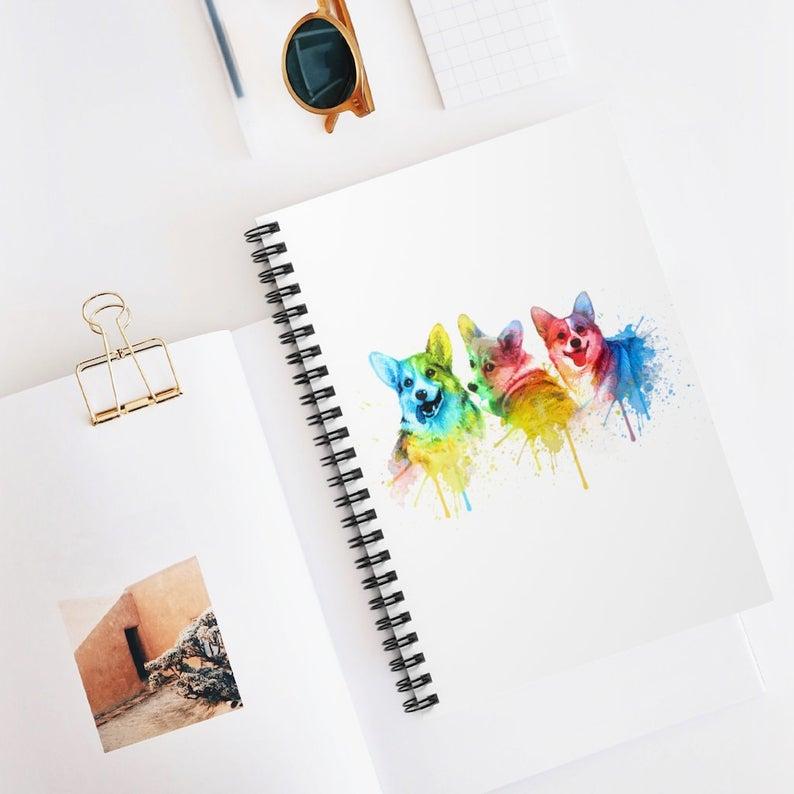 Corgi-Notebook-Watercolor-Corgi-Notebook-Gift-For-Student-Spiral-Notebook-Corgi-Gift-For-Corgi-Lover-Dog-Notebook