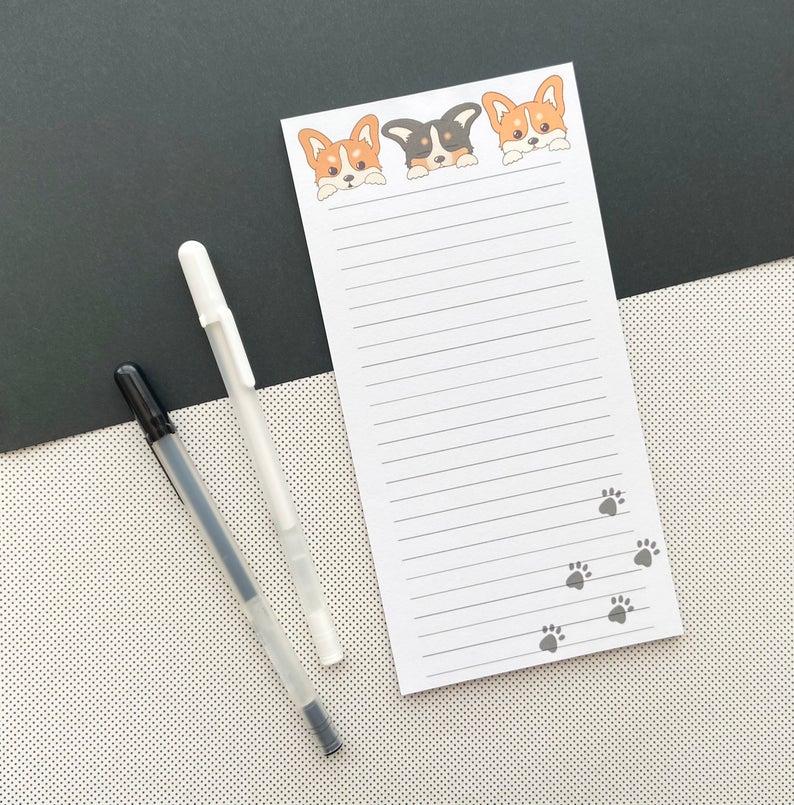 Handmade-Kawaii-Corgi-Memo-Pads-Cute-Memo-Pads-Stationery-Notes-Dog-Lover-Gift-Corgi-Notepads-Corgis-Corgi-gifts-Corgi-Dog